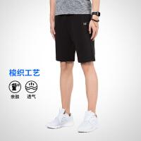 361度男装弹力短裤夏季透气假两件运动跑步短裤