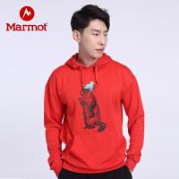 【开学季】Marmot/土拨鼠户外运动男女中性时尚透气休闲连帽情侣卫衣