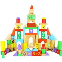 80粒桶装算数积木儿童益智玩具 送收纳袋 益智积木