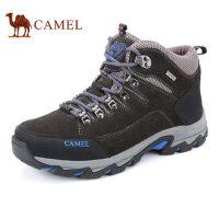 camel骆驼户外登山徒步鞋 高帮反绒牛皮鞋 耐磨防滑 户外男鞋