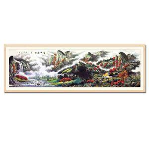 中国美术家协会会员,李建忠《山水》DYP20