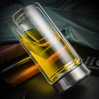 双层便携水杯泡茶杯过滤办公杯子730ml大容量玻璃杯