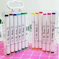 创意紫鼠双头马克笔环保记号笔三角杆画笔马克笔双头绘画水彩笔