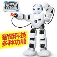 智能遥控机器人玩具阿尔法机械战警对战发射子弹跳舞儿童充电动玩具