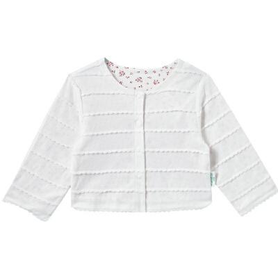 全棉时代 白色幼儿女款针织提花夹克 1件装