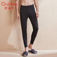 欧迪芬打底裤男舒适柔软减少静电不易起球舒适保暖弹力修身保暖裤XL0403