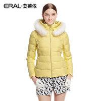 ERAL/艾莱依冬装韩版立领修身保暖女士短款羽绒服白鸭绒外套2046D
