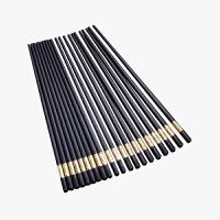 当当优品 10双装铝合金筷子 耐高温压花 27厘米 金字福