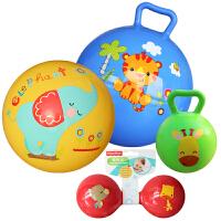 【当当自营】费雪(Fisher Price)儿童玩具球四合一(摇铃球+哑铃球+拍拍球+摇摇球 颜色随机 无需充气)
