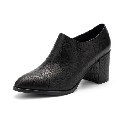 St&Sat/星期六英伦风春鞋女粗高跟深口女单鞋SS73112461