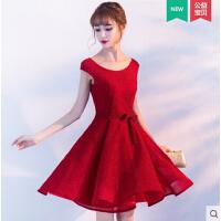 新娘敬酒服 时尚新品 新款结婚红色优雅甜美公主蓬蓬裙晚礼服女短款  舒适面料