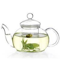 楼龙 耐热玻璃茶壶 功夫茶具带过滤内胆 清新花草茶壶三件套装 CF-96    1302