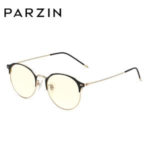 帕森金属光学眼镜架女 复古圆框男防蓝光 平光镜近视眼镜框162001