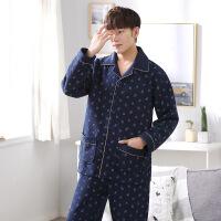 秋冬季男士睡衣纯棉加厚夹棉男款长袖青年加大码冬天家居服套装多款可选