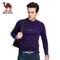 【专区每满100减50 满200减100】骆驼男装 秋季新款高领套头男士长袖T恤时尚男上衣