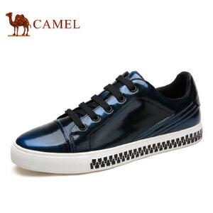 【领券下单立减111元】camel骆驼男鞋 新品 男士亮面潮流板鞋复古时尚滑板鞋