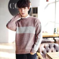 男士毛衣圆领青年潮流个性韩版宽松秋冬季加厚针织衫
