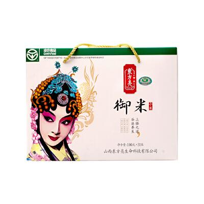 山西广灵特产小米脸谱礼盒装3100g小米粥 内100g*31小袋