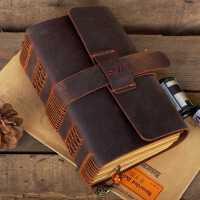 牛皮笔记本子日记本复古创意手工定制记事本加厚文具手账节日礼品
