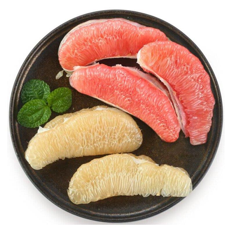 【包邮】福建琯溪蜜柚2只装 一红心一白心 共约5斤左右单果独立包装 坏果包赔