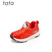 【159元任选2双】他她/tata童鞋女童鞋子秋季hellokitty运动鞋透气毛毛虫一脚蹬(3-15岁可选)W804