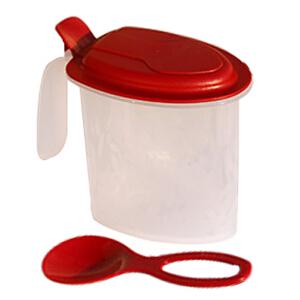 特百惠保鲜盒大嘴蛙 调料盒调味盒 固状调料盒带调料勺