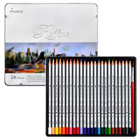 马可(Marco)7120-24TN 水溶性24色彩色铅笔/填色笔/彩铅 铁盒装