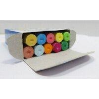 盟友MUNGYO 彩色粉笔 10支装彩色粉笔 无毒儿童黑板粉笔 10色混