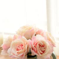 墨菲 把束大玫瑰仿真花 卧室客厅现代简约家居落地装饰品花卉绢花