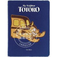 现货 龙猫公共汽车 绒面笔记本 英文原版 My Neighbor Totoro: Cat Bus Plush Journ