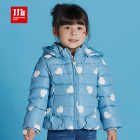 jjlkids季季乐童装女童羽绒服白鸭绒中小儿童可爱甜美冬款外套GDY63080