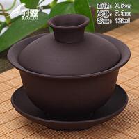 大号单个三才泡茶白瓷功夫茶具紫砂盖碗茶杯茶碗