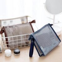 旅行化妆包小号便携韩版简约大容量软妹透明手拿化妆袋防水洗漱包