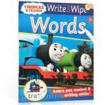 【顺丰包邮】进口英文原版 可擦写:托马斯和朋友们系列 Thomas Wipe & Write Wor 单词书 3-8岁