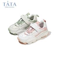 【券后价:159.4元】他她Tata童鞋小虎牙童鞋2020秋冬新款儿童老爹鞋女童软底轻便运动鞋