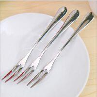创意家居餐馆西餐不锈钢水果叉 时尚蛋糕冰激凌叉小叉子