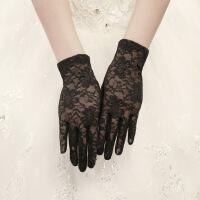 新娘手套蕾丝结婚红白色长短款有指婚纱礼服拍照黑色网纱镂空香槟ST180003