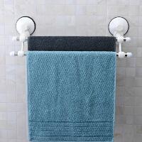 双庆 三代吸盘1807强力吸盘不锈钢双杆毛巾架浴巾架毛巾架 浴巾架置物架新款 47CM