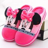 儿童棉拖鞋冬天保暖室内可爱卡通米奇米妮小孩宝宝拖鞋冬季