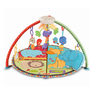 [当当自营]Fisher Price 费雪 爱心动物声光健身器 婴儿玩具 T6339