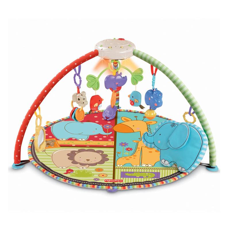 [当当自营]Fisher Price 费雪 爱心动物声光健身器 婴儿玩具 T6339 【当当自营】适合0-3岁婴幼儿 健身系列