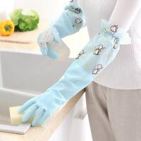 懿聚堂 家居百货清洁用手套橡胶加绒加厚型PVC防水防滑家务手套