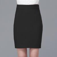 秋冬毛呢冬裙半身裙包臀裙女高腰短裙黑色修身显瘦一步裙
