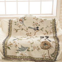 新款美式沙发布欧式花鸟沙发巾布艺餐桌布防滑垫盖毯飘窗垫防尘罩