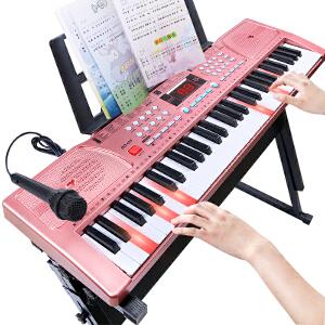 活石 儿童电子琴61键电子钢琴 多功能益智音乐玩具儿童钢琴带麦克风节生日礼物