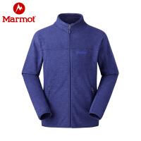 Marmot/土拨鼠户外男士抓绒衣 弹力舒适防泼水抓绒夹克衣