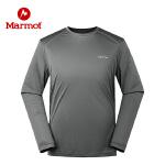 Marmot/土拨鼠2020春夏款运动户外男款长袖速干T恤