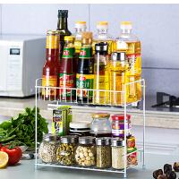 调料置物架 架落地厨房调味架调味用品收纳架2020新款铁艺多层台面储物架子