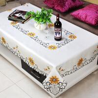 小清新桌布布艺客厅长方形欧式餐桌布现在简约麻将机方桌桌布北欧