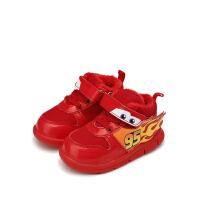 【119元任选2双】迪士尼Disney童鞋冬季加绒宝宝学步鞋保暖男孩女孩 JS3208